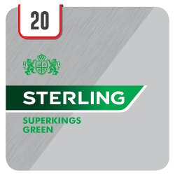 Sterling Superkings Green 20 Cigarettes