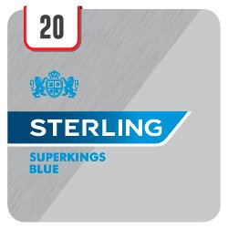 Sterling Superkings Blue 20 Cigarettes Track & Trace Compliant