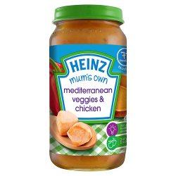 Heinz 7+ Months Mashed Mum's Own Mediterranean Veggies & Chicken 200g