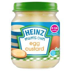 Heinz 4-36 Months Smooth Mum's Own Egg Custard 120g
