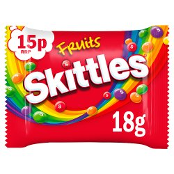 Skittles Fruits Sweets £0.15 PMP Bag 18g