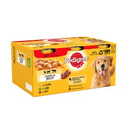Pedigree Adult Wet Dog Food Tins Mixed in Jelly 6 x 385g PMP £4.75