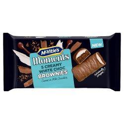 McVitie's Moments 5 Creamy White Choc Brownies