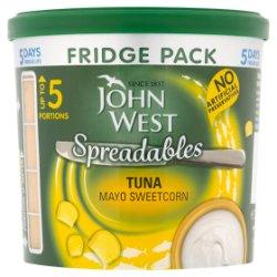 John West Spreadables Tuna Mayo Sweetcorn Fridge Pack 255g
