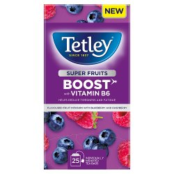Tetley Super Fruits Boost Blueberry & Raspberry x25