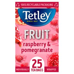 Tetley Raspberry & Pomegrante Green Tea Bags x25
