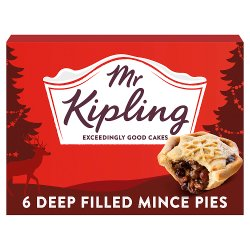 Mr Kipling 6 Deep Filled Mince Pies