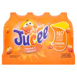 Jucee No Added Sugar Orange Cordial 8 x 1.5 Litre