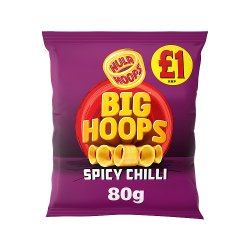 Hula Hoops Big Hoops Spicy Chilli Flavour Potato Rings 80g