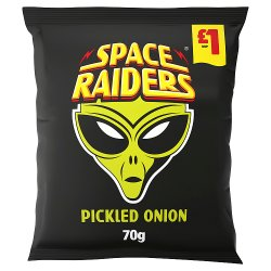 Space Raiders Pickled Onion Crisps 70g, £1 PMP