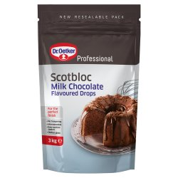 Dr. Oetker Professional Scotbloc Milk Chocolate Flavoured Drops 3kg