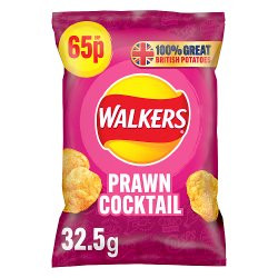 Walkers Prawn Cocktail Crisps 65p RRP PMP 32.5g