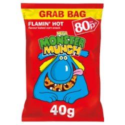 Mega Monster Munch Flamin' Hot Snacks PMP 40g
