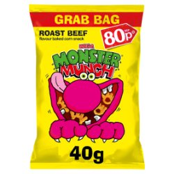 Mega Monster Munch Roast Beef Snacks PMP 40g