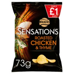 Sensations Chicken & Thyme Crisps £1 PMP 73g