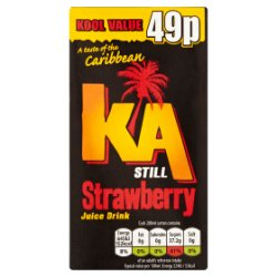 KA Still Strawberry 288ml Carton