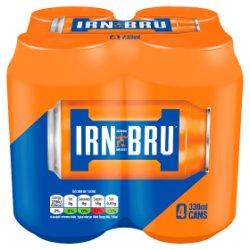 IRN-BRU 4 x 330ml Cans, PMP £1.79