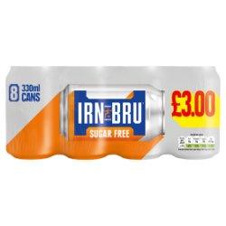 IRN-BRU Sugar Free 8 x 330ml Cans