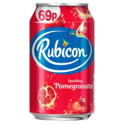 Rubicon Sparkling Pomegranate Juice Drink 330ml Can, PMP 69p