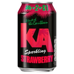 KA Sparkling Strawberry 330ml Can, PMP, 59p or 2 for £1