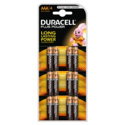Duracell Plus Power AAA Alkaline Batteries 4 x 3 Counts