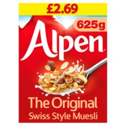 Alpen Muesli Original 625g Pricemarked £2.69