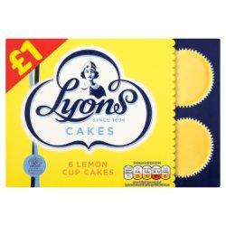 Lyons Lemon Cup Cakes 6pk £1