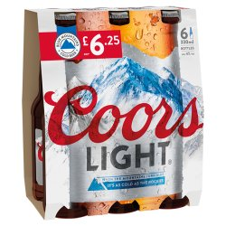 Coors Light Lager 6 x 330ml