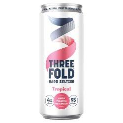 Three Fold Hard Seltzer Tropical 330ml