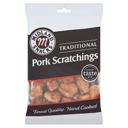 Midland Snacks Traditional Pork Scratchings 70g