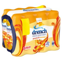 Drench Juicy Spring Water Peach & Mango 500ml