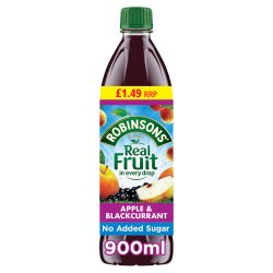 Robinsons Fruit Squash No Added Sugar Apple & Blackcurrant 12 x 900ml