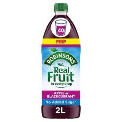 Robinsons Apple & Blackcurrant No Added Sugar Fruit Squash 2L