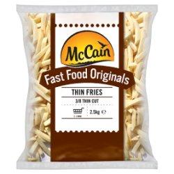 McCain Fast Food Originals Thin Fries 2.5kg