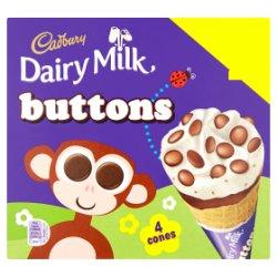Cadbury Dairy Milk Buttons 4 x 100ml (400ml)