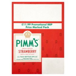 Pimm's Special Edition Strawberry with a Hint of Mint 6 x 70cl