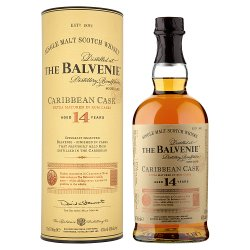 The Balvenie Caribbean Cask Aged 14 Years Single Malt Scotch Whisky 70cl