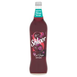 Shloer Red Grape Sparkling Fruit Drink 750ml