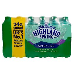 Highland Spring Sparkling Spring Water 24 x 500ml