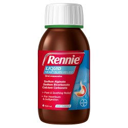 Rennie Liquid Heartburn & Indigestion Relief Peppermint 150ml