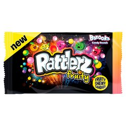 Bazooka Rattlerz Fruity Chewy Candies 40g