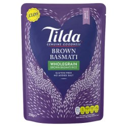 Tilda Wholegrain Brown Basmati Rice 250g