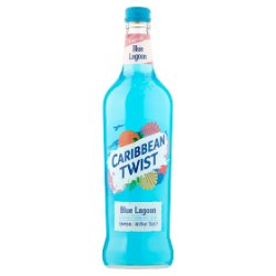 Caribbean Twist Blue Lagoon Cocktail Style Alcoholic Sparkling Drink 70cl