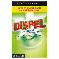 Dispel Professional Biological Laundry Powder 125 Washes 10kg