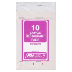 RY 10 Large Restaurant Pads