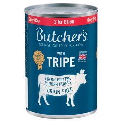 Butcher's Tripe Wet Dog Food Tin 400g