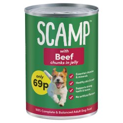 Scamp with Beef Chunks in Jelly 69p 400g