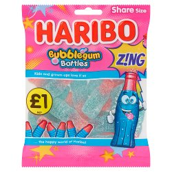 HARIBO Bubblegum Bottles Z!NG Bag 160g £1PM