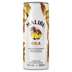 Malibu Cola Sparkling Pre-Mixed Drink 250ml