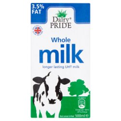 Dairy Pride Whole UHT Milk 500ml